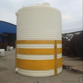 无锡10T塑料水箱价格耐酸碱搅拌罐10T平底塑料水箱采购