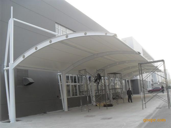 膜结构车棚 拉杆膜结构车棚