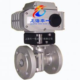 CY精小型电动球阀Q941H-10C铸钢电动法兰球阀