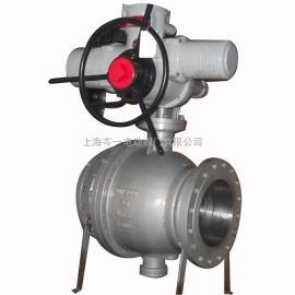 铸钢衬氟电动法兰球阀 不锈钢四氟电动球阀优点