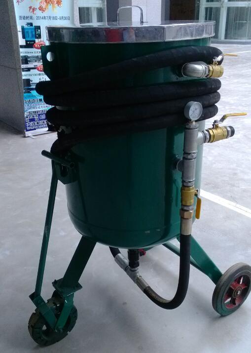 供应直径600移动开放式喷砂罐