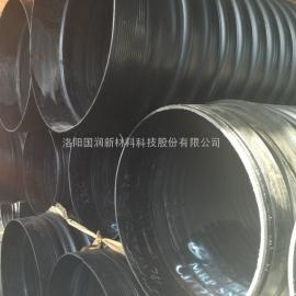 DN800HDPE钢带增强波纹管 专业排污管