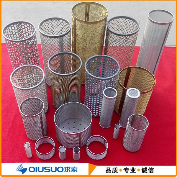 厂家定做优质304,316不锈钢过滤网筒@河北求索丝网制品有限公司