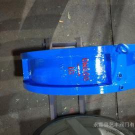 浙江瓯北厂家生产H76X-25C DN400碳钢对夹双瓣蝶式止回阀