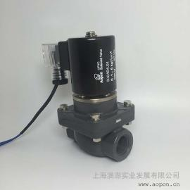 "UPVC电磁阀 G1/2"" DN15 AC220V"