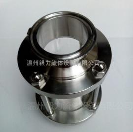 304不锈钢玻璃管视镜 食品级快装直通管道视镜视盅