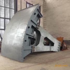 大型弧形钢制闸门生产中