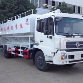 东风天锦十吨散装饲料运输车