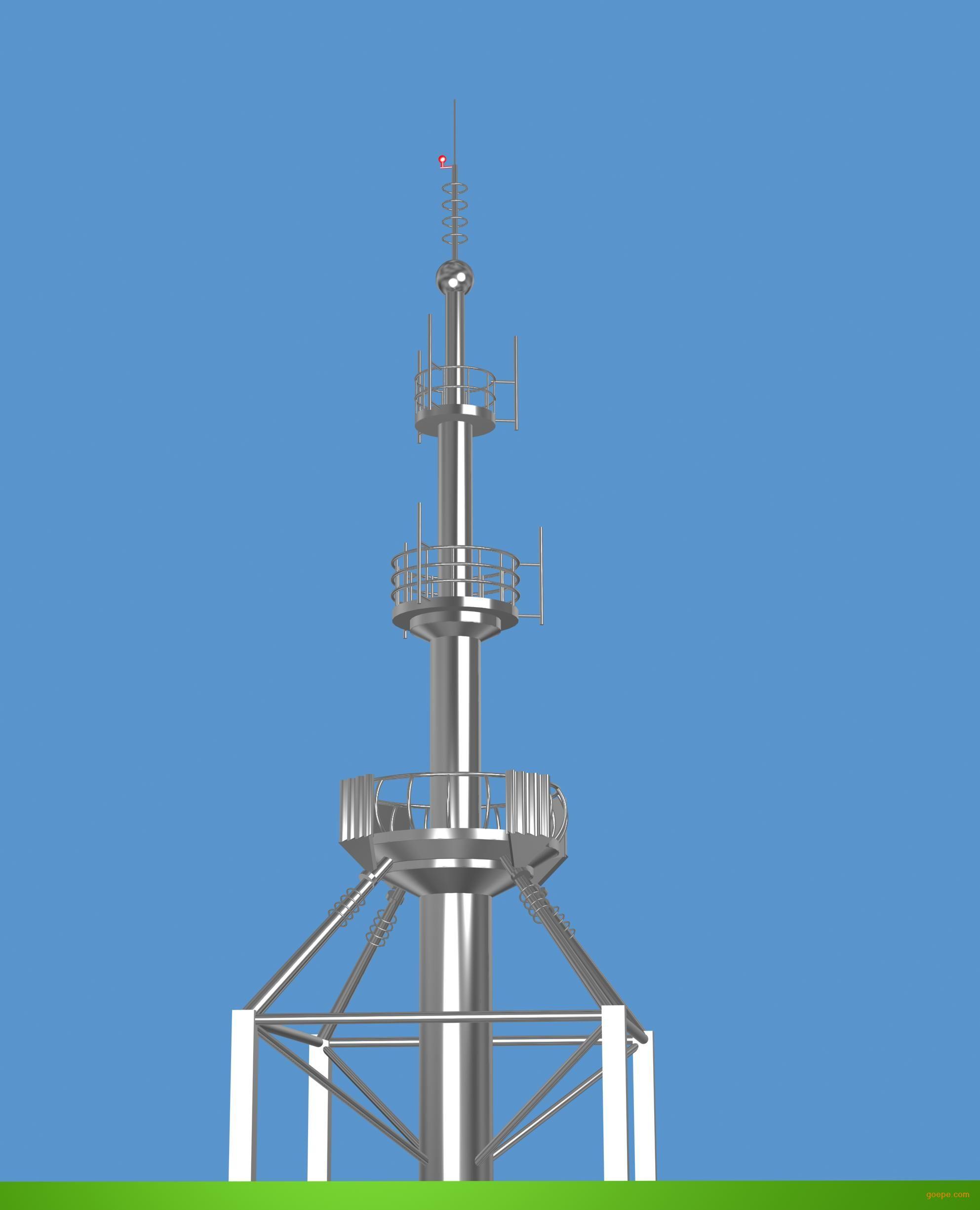 楼顶金属装饰架gyt型避雷工艺塔-不锈钢避雷塔-钢结构
