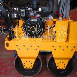 手扶式沥青路面压路机 2吨小型压路机 双轮振动压路机