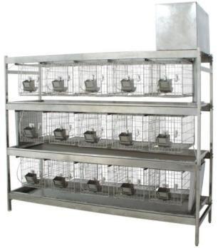 RS-15不锈钢冲洗式实验兔笼