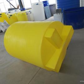 供应 500L加药箱 水处理加药PE搅拌桶 西安厂家 可配搅拌机