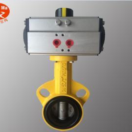 D671X-16L DN300铝合金气动对夹蝶阀,12寸对夹铝合金气动蝶阀