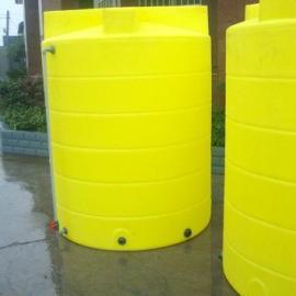 2吨水处理桶搅拌箱2吨PE加药箱耐酸碱搅拌桶厂家送货