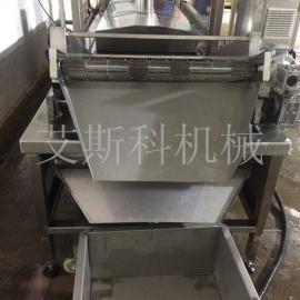 导热油自动油炸机 虾球油炸锅 油水混合连续油炸机