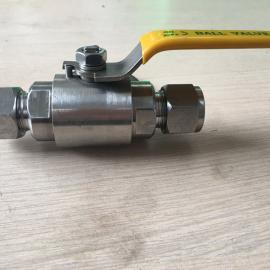 上海风雷不锈钢卡套式球阀Q91F 精小型不锈钢球阀