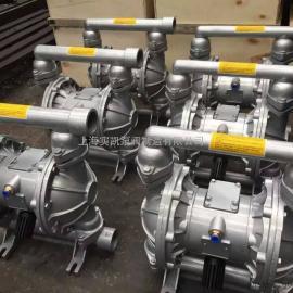QBY-100气动隔膜泵,铝合金隔膜泵,四氟膜片
