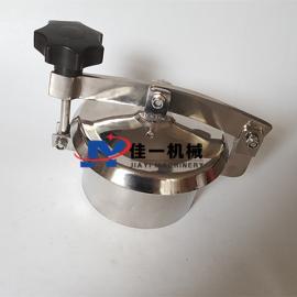 佳一生产不锈钢圆形常压人孔 卫生级快开圆形人孔盖 罐顶人孔