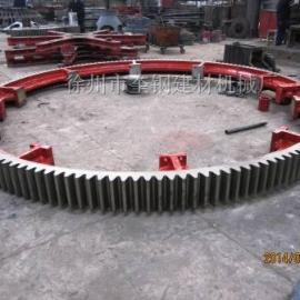 烘干机大齿轮 -奎钢3.0X25米滚筒烘干机传动铸钢齿轮