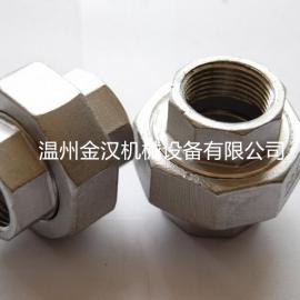 厂家直供 304不锈钢六角内牙活接 不锈钢内牙双头活接头