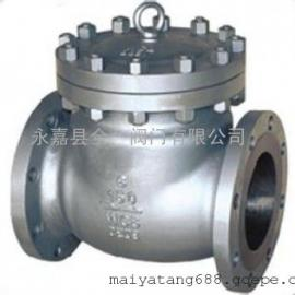 H44Y-150LBI美标旋启式铬钼钢止回阀、WC6珞钼钢