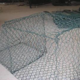 西安8号钢丝河道石笼网PVC浸塑+热镀锌格宾石笼-大厂家生产批发