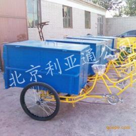 不锈钢环卫三轮车三轮保洁车人力三轮车保洁医疗专用垃圾车