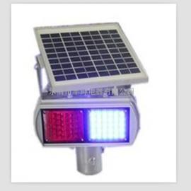 二组单面太阳能爆闪灯 道路警示灯