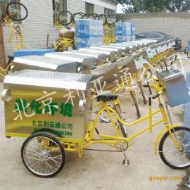 北京保洁车厂家零售白口铁三轮毒素车、环卫单车
