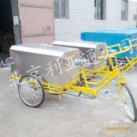 0.4乘方白口铁三轮保洁车、环卫单车北京三轮毒素车厂家