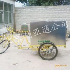 不锈钢环卫三轮车保洁车保洁车人力垃圾车、北京环卫三轮车厂家批