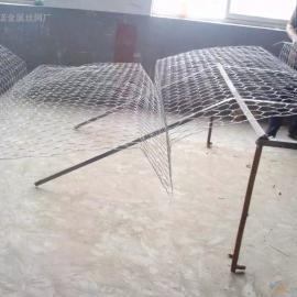 河道装石头石笼网生产加工厂家 生态绿化菱形护坡网