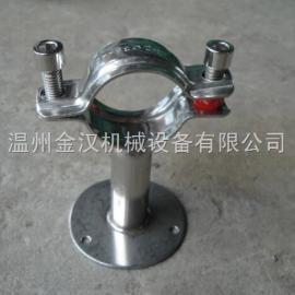 不锈钢管支架 卫生级管夹钢管支架 管子夹 钢管固定架管卡
