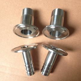 不锈钢快装丝扣接头、卡箍式丝扣接头、快装外螺纹接头