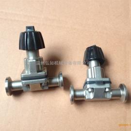 不锈钢盖米隔膜阀厂家、快装隔膜阀价格、不锈钢卡箍式隔膜阀