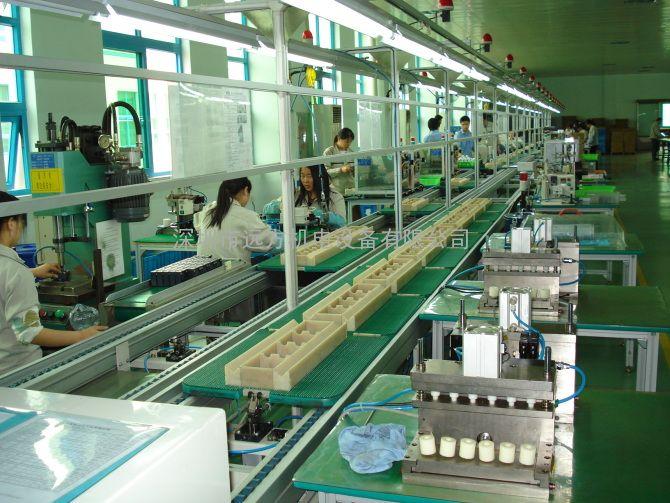 重工业部件组装生产线