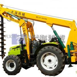液压拖拉机挖坑机|带吊机的拖拉机挖坑机1004型机械挖坑一体机