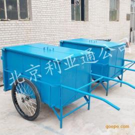 厂家定做0.7立方铁板垃圾清运车(带帮箱)环卫手推保洁车