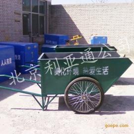 定制特殊铁板手推车、三轮垃圾车、环卫保洁车