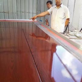 钢板门木纹转印机厂家 文件柜木纹转印机