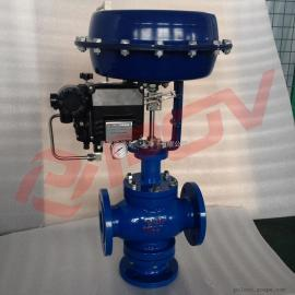 上海普雷沃直销气动薄膜三通调节阀-分流合流作用