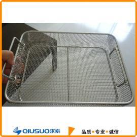 工业清洗,盛放不锈钢网篮,不锈钢周转筐@求索厂家定做销售