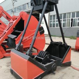 亚重DZ12轻型就地装卸大量散粒物品1.5立方电动单轨抓斗