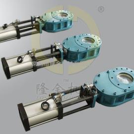 气力除灰阀门 LJ/隆金 耐磨陶瓷钨钢双闸板双插板D型