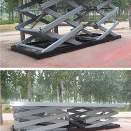 凯运厂家定做3.5吨4吨双跨汽车举升机 液压升降机升降平台