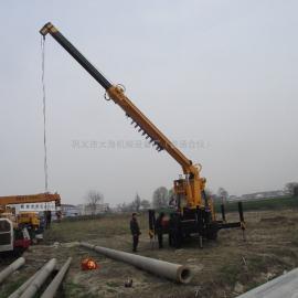 多功能电线杆挖穴机挖穴立杆一体机设备图片