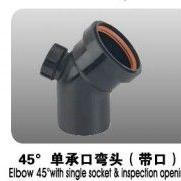 45°带口HDPE柔性承插连接建筑用聚乙烯厂家供应