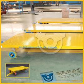 车站工件行李搬运用厂家定制直销平板拖车拉货平板牵引车