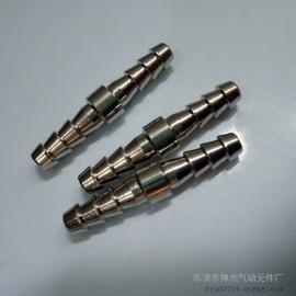 厂家直销全铜镀镍宝塔式直通精品金属气动管元件接头