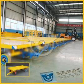 生产车间转运牵引5T胶轮平板车